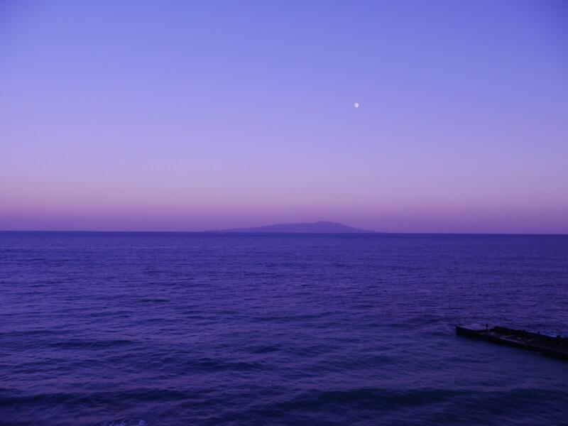 熱川館客室から眺める夕焼け