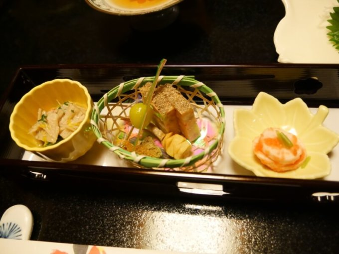 熱川館の夕飯「前菜」