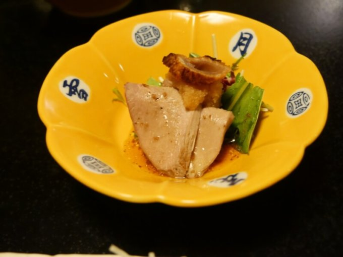 熱川館の夕飯「酢の物」