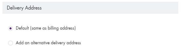 セルティックシープスキン公式サイトで個人輸入、お届け住所の指定。
