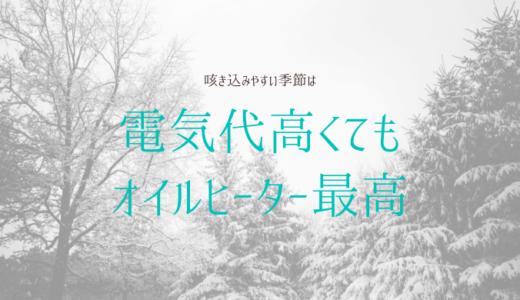 オイルヒーターを使う月は電気代がプラス1万円!デロンギは子育て中メリットだらけ