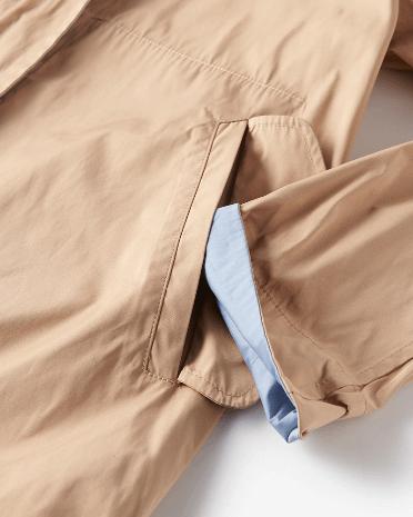 ドゥクラッセ二重織メモリー・ショートフーディ袖部分