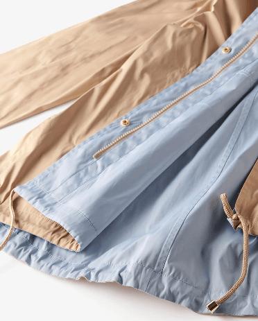 ドゥクラッセ二重織メモリー・ショートフーディ裾部分