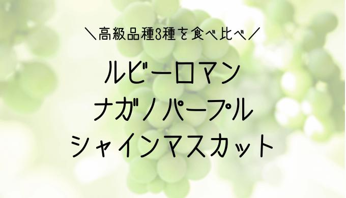 高級ぶどう3品種「ルビーロマン・シャインマスカット・ナガノパープル」を実食で比較食べ比べ