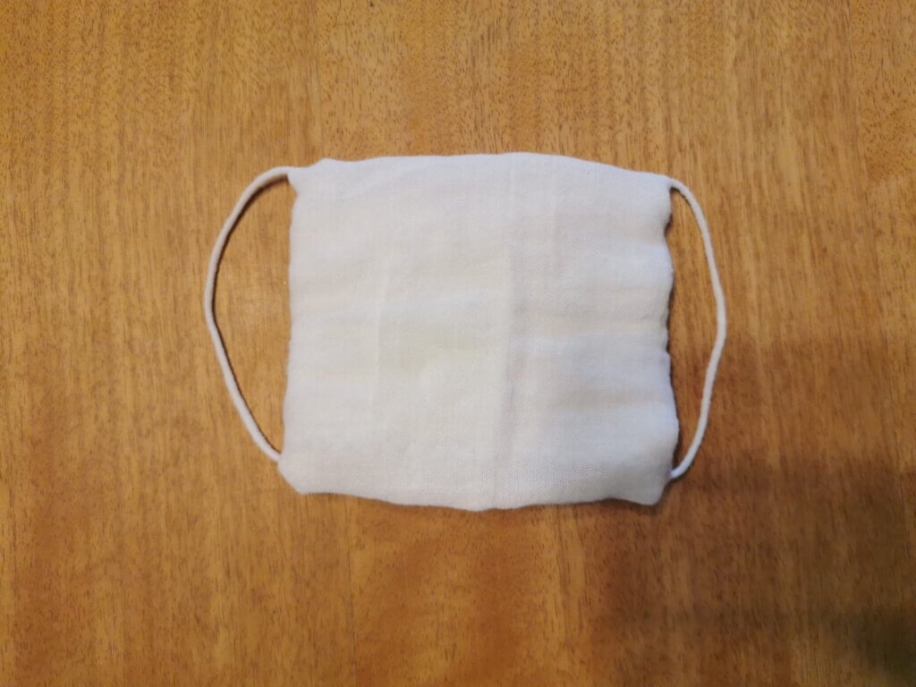縫わない簡単手作りマスク【ミシン・針・糸・ハサミ不要】不器用さんでも作れる!家にある材料で10秒で完成