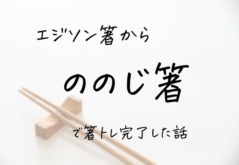 エジソンの箸の次にののじ箸にステップアップしてお箸トレーニング完了した体験談